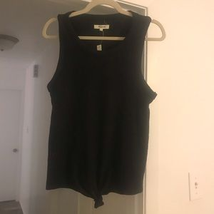 Madewell front tie tank in black